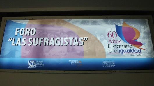 """Conferencia, """"Las Mujeres Sufragistas""""."""