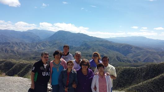Grupo en plena Sierra Gorda.